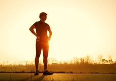 Young man before start running Stock Photo