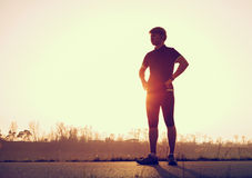 Young man before start running Royalty Free Stock Photos