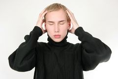 Young man in stress Royalty Free Stock Photography