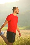 Young man stretching exercise workout Royalty Free Stock Image
