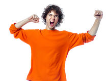 Young man strong screaming happy portrait Stock Image