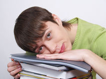 The young man the student with books. Royalty Free Stock Images