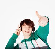 Young man in studio Royalty Free Stock Images