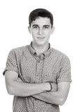 Young man in studio. Young caucasian man or teenager in studio Royalty Free Stock Photos