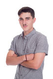 Young man in studio Stock Image