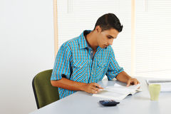 Young man studying Stock Images
