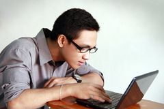 Young man studying royalty free stock photography