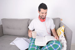 Young man studying. Stock Photography