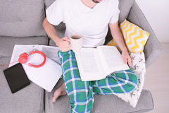 Young man studying. Royalty Free Stock Photos