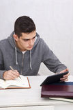 Young man studying Royalty Free Stock Images