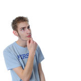Young man stumped Royalty Free Stock Images