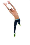 Young man style jumping Stock Images
