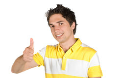 Young man successful Stock Photography