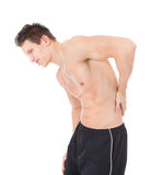 Young Man Suffering From Back Pain Royalty Free Stock Image