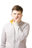 Young man suffering from toothache Royalty Free Stock Photography