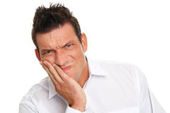 Young man suffering from a toothache Royalty Free Stock Photography