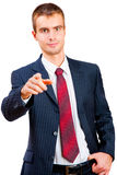 Young man in a suit Royalty Free Stock Photo