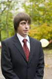 Young man in suit Royalty Free Stock Image