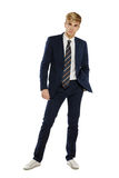 Young man in suit Stock Photography