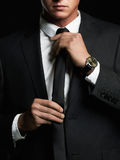 Young man in suit Royalty Free Stock Images