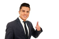 Young man in suit Royalty Free Stock Photos