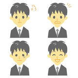 Young man in suit, expressions. File Stock Image
