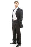 Young man in suit full Stock Photos
