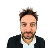 Young man in suit and shirt with scruffy look. Royalty Free Stock Photography