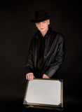 Young man with suitcase Royalty Free Stock Images