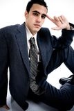 Young man in suite royalty free stock photo