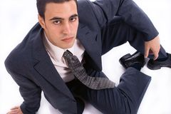 Young man in suite Royalty Free Stock Images