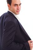 Young man in suite Royalty Free Stock Image