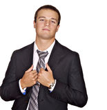 Young man in a suite and tie Stock Image