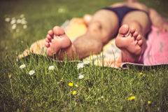 Young man sunbathing Royalty Free Stock Photo
