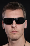 Young man with sunglasses Royalty Free Stock Image