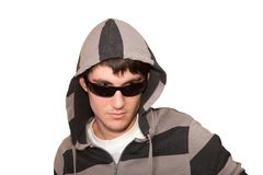Young man with sunglasses Stock Photos