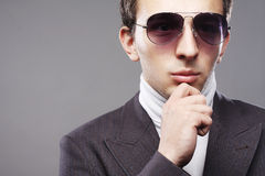 Young man in sunglasses. Royalty Free Stock Photo