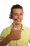 The young man from a support service Stock Images