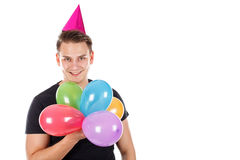 Young man surprised his girlfriend Royalty Free Stock Photography