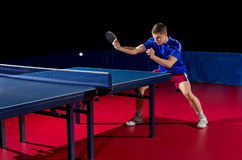Young man table tennis player Royalty Free Stock Photo