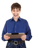 Young Man with Tablet Computer Stock Photography