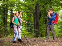 Young man take picture of his friends Royalty Free Stock Image