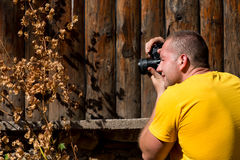 Young Man Taking A Photography With An SLR Camera Royalty Free Stock Photo