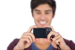 Young man taking picture of himself Stock Photos