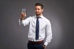 Young man taking a selfie Stock Photos