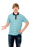 Young man talking and gesturing Stock Photography