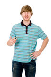 Young man talking and gesturing isolated Royalty Free Stock Photos