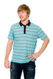 A young man talking and looking to the side Royalty Free Stock Photography