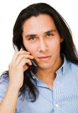 Young man talking on mobile Stock Photos