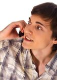 Young man talking mobile phone Royalty Free Stock Image